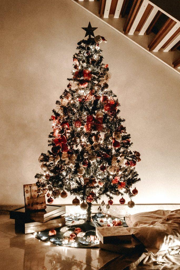 Karácsonyfa karácsonyi ünnepek alkalmával